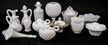 Lot Of Vintage Milk Glass Decorative Items