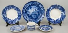 Assorted Lot Of American Made Blue & White China