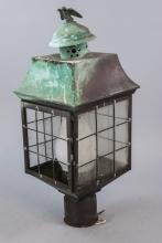 Antique Oxidized Electric Post Lantern