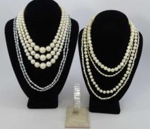 Vintage Costume Pearl & Seed Pearl Jewelry Items