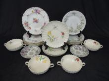Collection of 20+ Plates Incl Spode, Royal Doulton