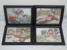 Suite of Framed Japanese Prints - Signed & Stamped