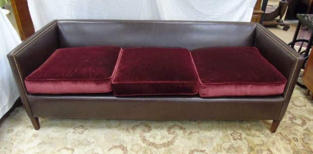 Contemporary custom made leather velvet sofa for Custom made sofas uk