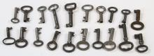 Collection of Antique 19th & 20th C Skeleton Keys