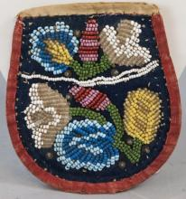 Antique Native American Handmade Beaded Pouch