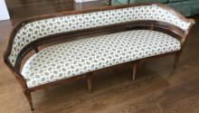 Antique 19th C Custom Upholstered Settee Bench