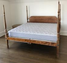Carved Maple Four Poster King Size Bed Frame