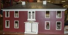Antique American Early 20th C Handmade Dollhouse