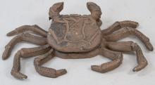 Figural Beach Horse Door Knocker of a Crab