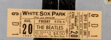 Beatles White Sox Park Unused Concert Ticket