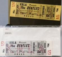 Consecutive Numbered Tickets from Beatles Concert