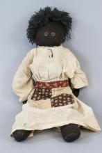 Antique Black Americana Handmade Rag Doll