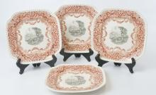 Set of Four Antique Copeland Spode English Plates