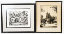 Two Framed Prints of European City Scenes