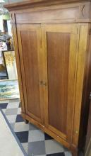 Contemporary Design 2-Door Wood Armoire