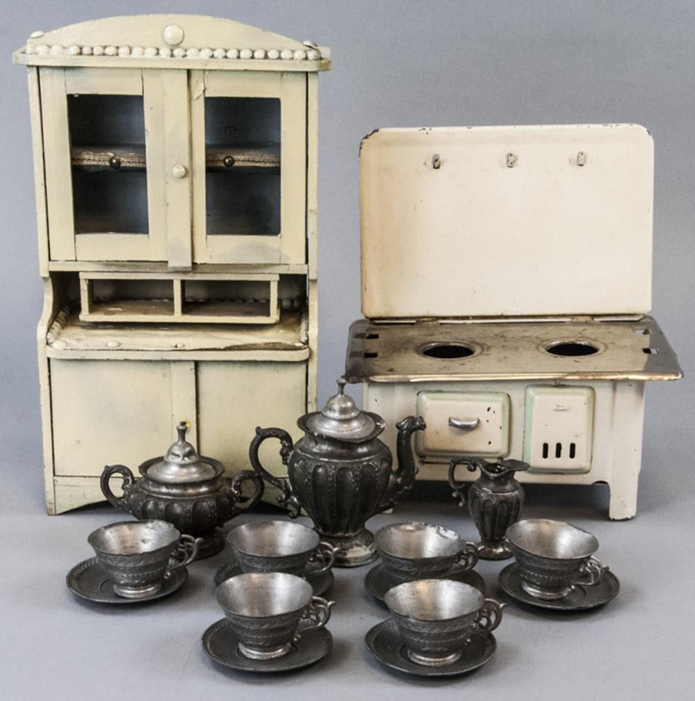 Antique Dollhouse Miniature Kitchen Stove Hutch Wiring Schematic