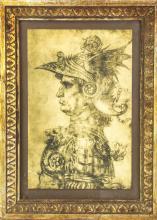 Leonardo da Vinci Framed Print of a Warrior