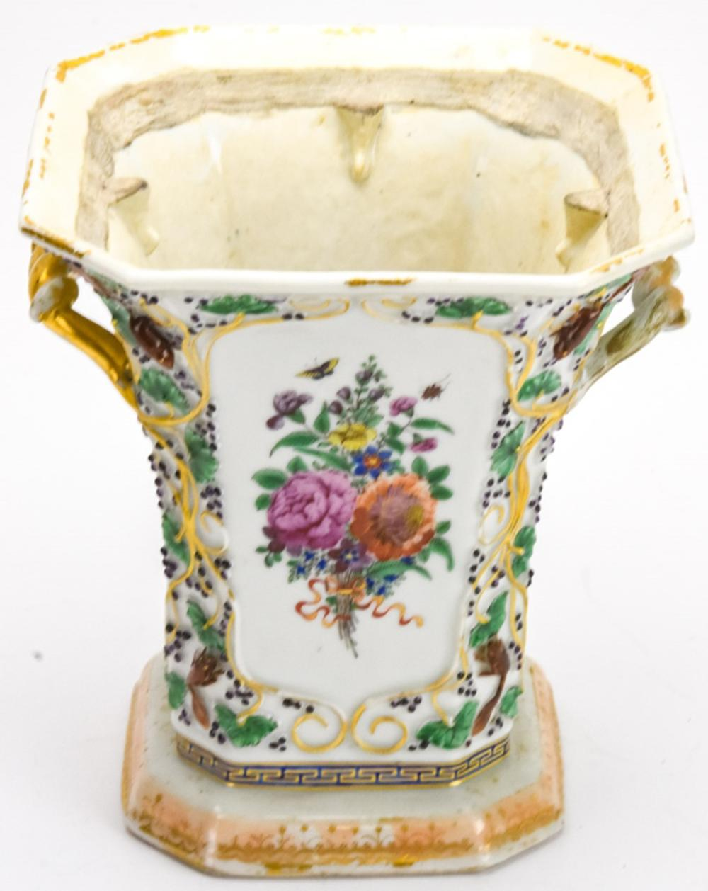 Chinese Porcelain Floral Motif Flower Pot