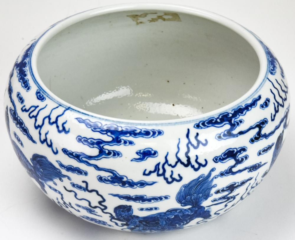 Chinese Hand Painted Porcelain Blue/White Bowl