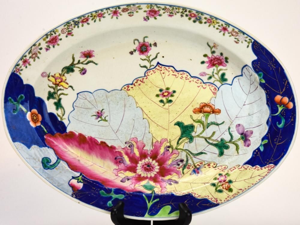 Chinese Porcelain Tobacco Leaf Platter