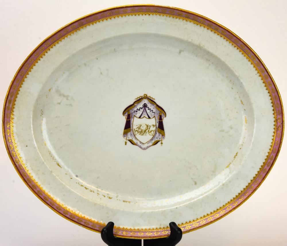 Chinese Export Armorial Motif Porcelain Platter