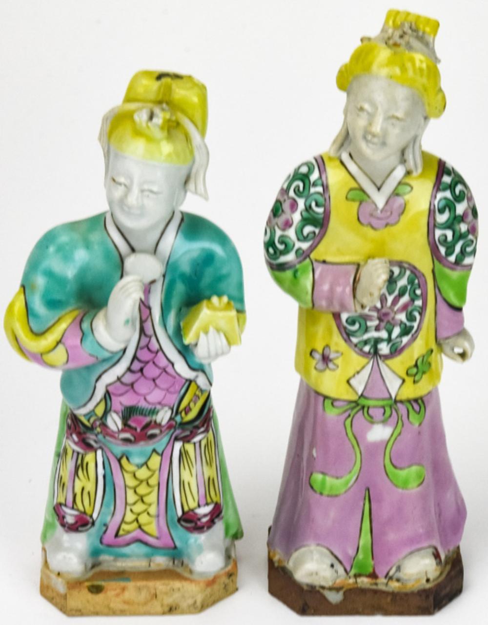 Pair of Antique 18th Century Chinese Figurines