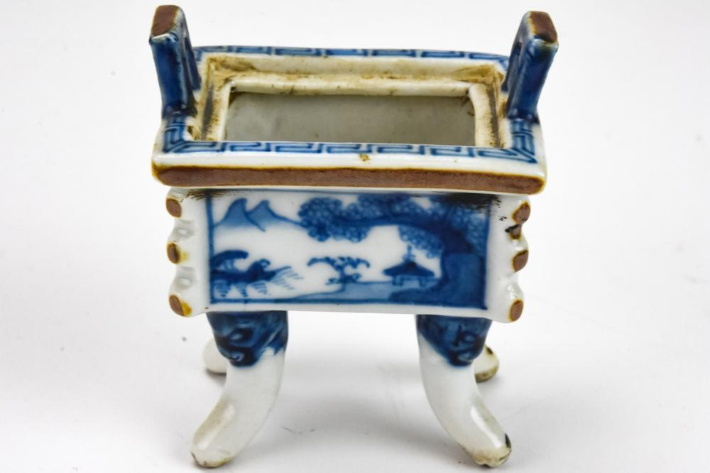 Antique 19th C Chinese Porcelain Incense Burner