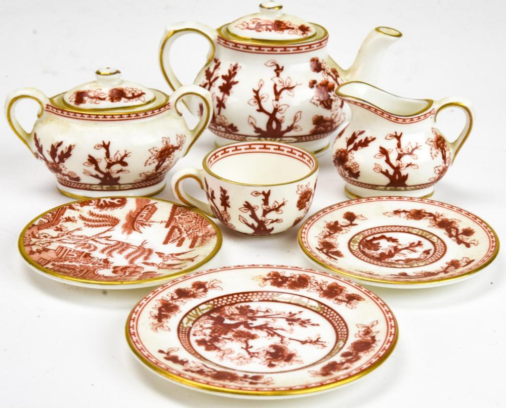 Coalport Indian Tree Miniature Porcelain Tea Set