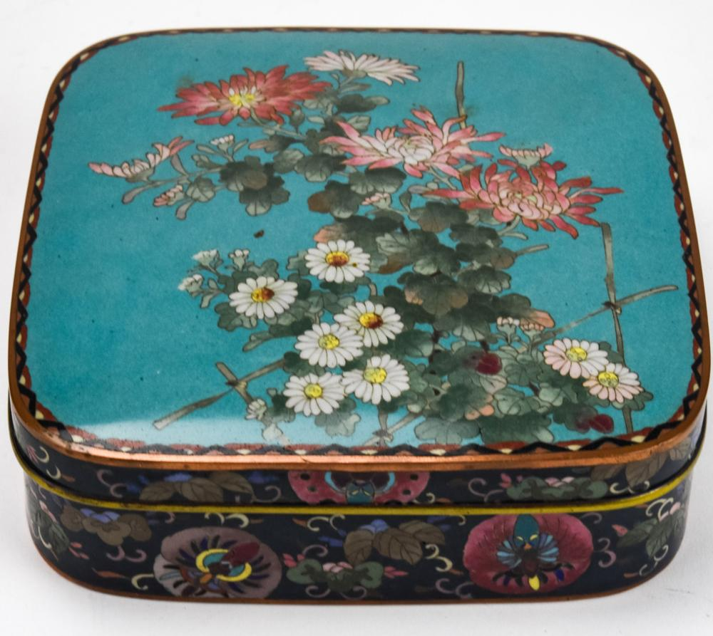 20th Century Chinese Cloisonne Table Box