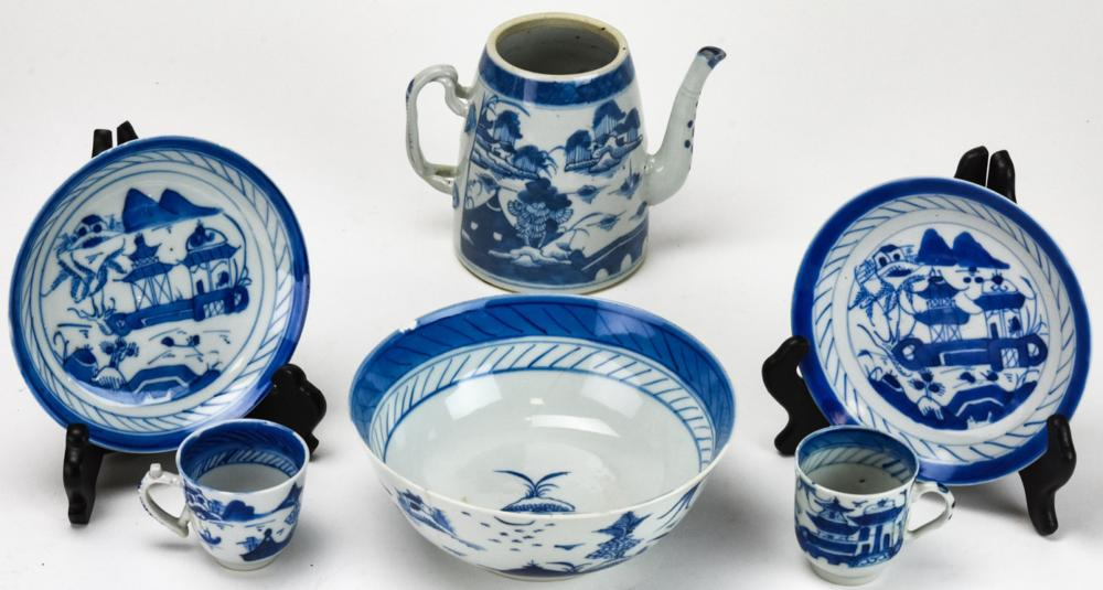 Collection Chinese Blue & White Canton Porcelain