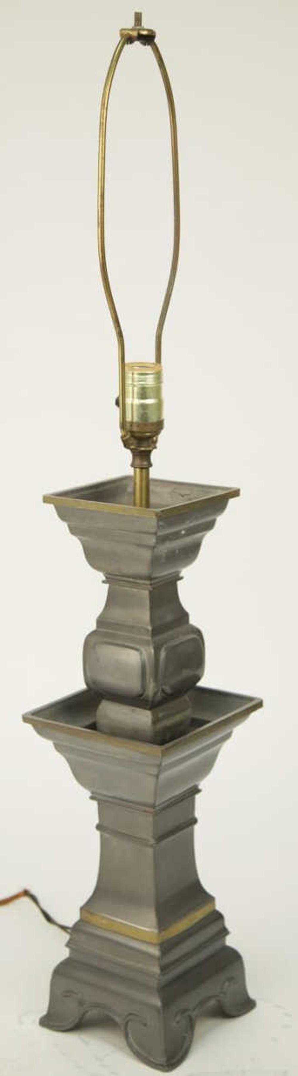 Mid Century Metal Vase Form Table Lamp
