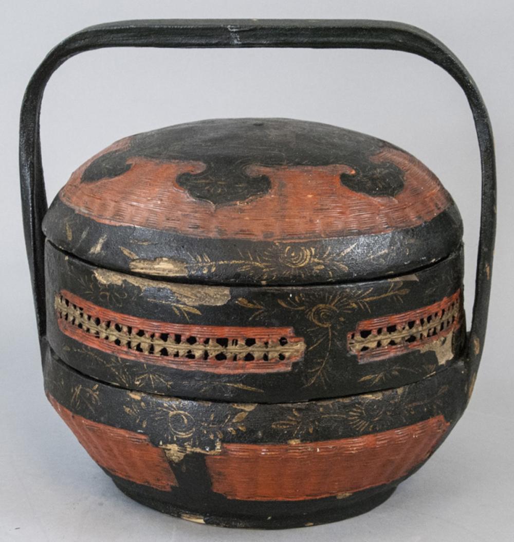 Antique 19th C Chinese Wedding Basket