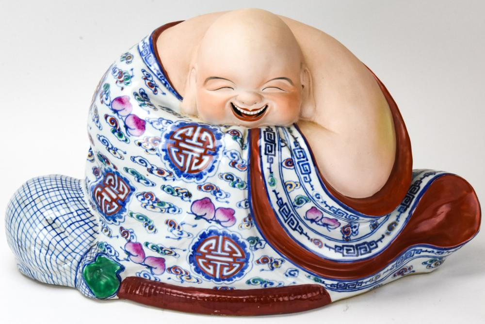 Large Japanese Porcelain Samurai Statue