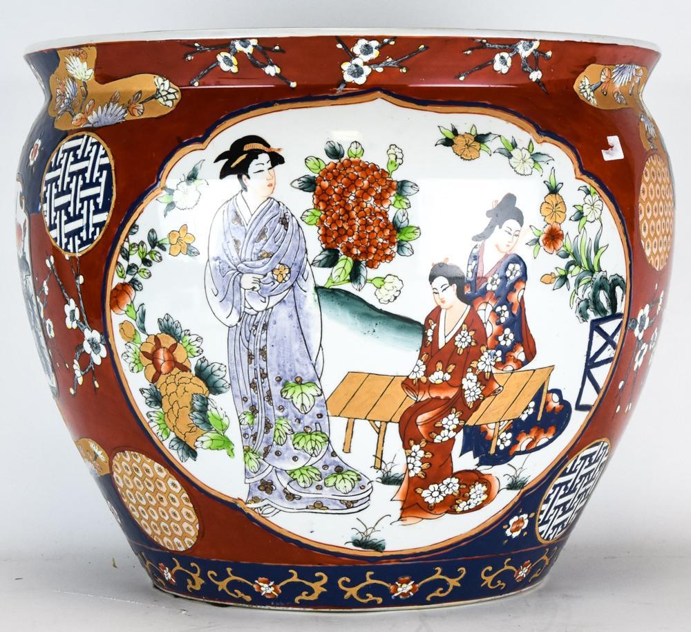 Chinese Porcelain Fish Bowl Planter / Pot