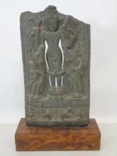 11th Century Indian Grey Limestone Buddhist Stele