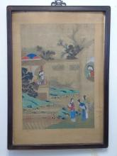 Chinese Ming Dynasty Watercolor Silk Fine Painting