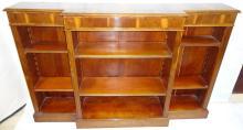 Art Deco Yew Wood Bookcase