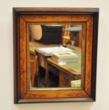 Vintage Hand-Carved Burl Mirror