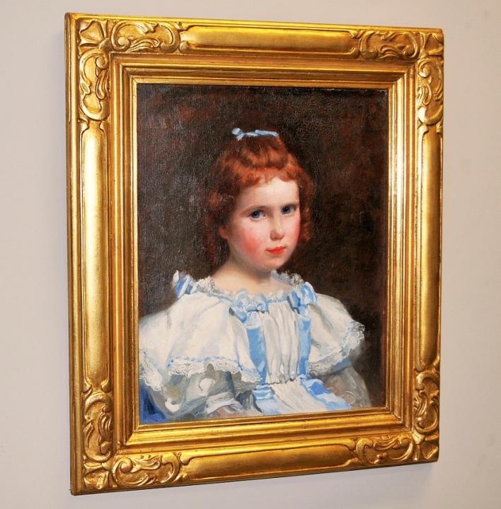 Portrait of Girl/William Morton Rice/Oil on Canvas