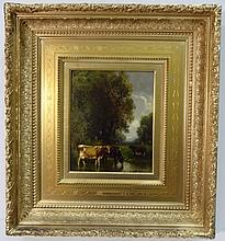 William Hart- Marsh Scene with Cattle- Oil/Canvas