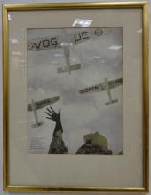 1932 Signed Vogue Color Lithograph Poster