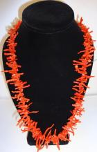 Modernist Salmon Coral Necklace