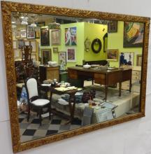 Antique Ornate Gilt Wood Wall Mirror