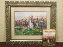 20th C. Print of a Watercolor French Army