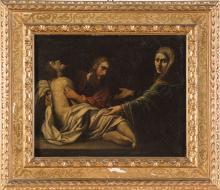 """Alessandro Tiarini (1577 - 1668), scuola di, """"Deposizione""""."""