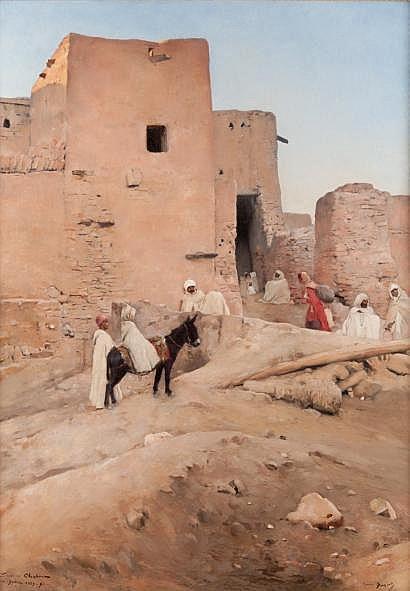 Maurice BOMPARD (1857-1936) L'oasis de Chetma,