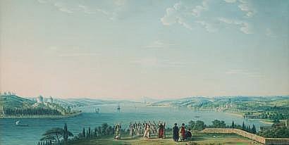 Antoine-Ignace MELLING (1763-1831) Vue du Bosphore