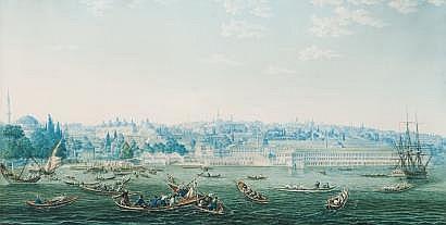 Antoine-Ignace MELLING (1763-1831) Caïques devant