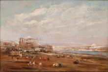 Edouard Jacques DUFEU (1836-1900) Vue du Caire