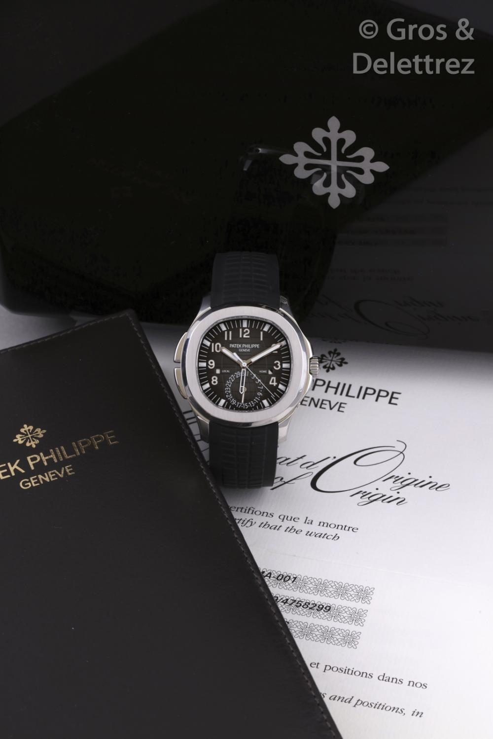 Patek Philippe Aquanaut Travel Time Ref 5164a 001 N 56xx
